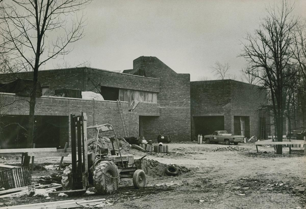 A photo of a building on the Lima campus under construction